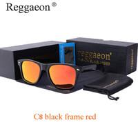 разноцветные солнцезащитные очки оптовых-reggaeon высокое качество горячие лучи бренд дизайн мужчины солнцезащитные очки поляризованные очки классика моды многоцветные старинные 2140 1048
