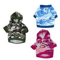 roupas de natal venda por atacado-Roupas para animais de Camuflagem de Inverno Casaco Quente Hoodies Casaco Filhote de Cachorro Vestuário Teddy Clothing 3 Cores Atacado Presente de Natal Cão Outfit
