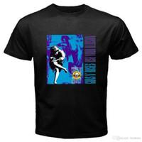 illüzyon gömlek toptan satış-2018 Kısa Kollu Pamuk T Shirt Adam Giyim Guns N Güller * Sizin Illusion Axl kullanın Gül Slash erkek Siyah T-Shirt Boyutu S 3XL
