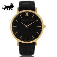 horloge authentique achat en gros de-Hommes Quartz Montre En Cuir Véritable Mode Hommes Montres Top Marque Montres De Luxe Montres Imperméables Pour Femmes Horloge