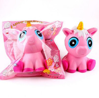 Wholesale toy horses for free for sale - Group buy Squishy unicorns jumbo squishies Slow Rising Soft horse Oversize Phone Squeeze toys Pendant Anti Stress Kid Decompression Toy DHL Free
