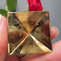 Wholesale Natural Yellow Citrine Crystals - 33*35mm Natural Citrine Yellow creastly pyramid Points Single Terminated Crystal Polished