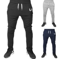 Wholesale Trousers men s muscle flying V sub wing sports fitness running cotton pants good quality Asia size so choose bigger size