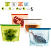 Wholesale Freezer Bags - Silicone Food Bag Reusable Airtight Seal Food Storage Container Reusale Freezer Leak-Proof Cooking Ziploc Bag Versatile Kitchen Utensil for