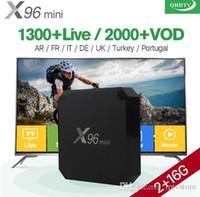 android niederländisch großhandel-IPTV Box X96 mini Android 7.1 2G + 16G mit IPTV-Abonnement 1300+ Arabisch Niederländisch Frankreich Belgien IPTV Sport Kanäle VOD