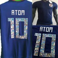 para desenhos animados venda por atacado-Tailândia 2018 DESENHOS ANIMADOS Número Japão copa do mundo em casa ATOM # 10 Camisas De Futebol 2019 Tsubasa KAGAWA OKAZAKI NAGATOMO KAMAMOTO Camisas De Futebol