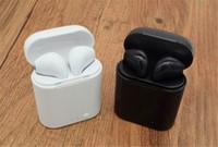 caja de embalaje de blackberry al por mayor-HBQ I7S TWS Twins Bluetooth inalámbrico con cargador de auriculares Auriculares inalámbricos para IOS o Android Para Samsung con embalaje al por menor