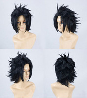 ingrosso parrucche in stile nero-Zack Fair 30cm Black Styled Wig Gioco Final Fantasy VII FF7 ​​Cosplay Parrucche E079B