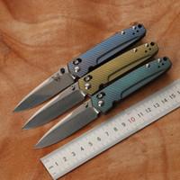 Wholesale titanium copper knife for sale - Group buy Titanium alloy Damascus blade shaft tactical folding knife titanium copper gasket HUNTING CAMPING pocket outdoor survival EDC tool knife
