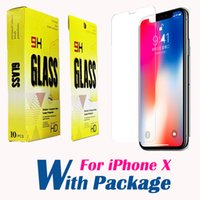 Wholesale Pack Film - 0.3mm 2.5D Tempered Glass Screen Protector For iphone X 8 7 6 5 5S HD Toughened Protective Film with packing DHL