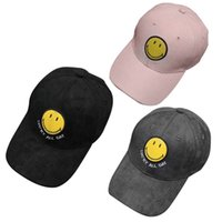 punk stili şapka toptan satış-Trendy Gülümseme Yüz Unisex Snapback Beyzbol Doruğa Kap Ayarlanabilir Kalça Hop Şapka Yaz Sonbahar Kadınlar Serin Punk Tarzı Beyzbol Şapkası