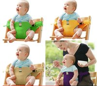 Wholesale baby harness carrier - Baby Sack Seats Baby stretch wrap safety belt harness baby carrier portable for Dining Eat Feeding Seat Cover Harness Seat Belt KKA4309