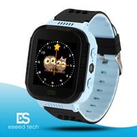 relógios relógios venda por atacado-Esporte bonito Q528 Crianças Rastreador Relógio Inteligente com Flash Light Touchscreen SOS Chamada Localização LBS Localizador para o miúdo Criança pk Q50