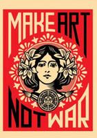 haciendo carteles al por mayor-Haz el arte no la guerra Cartel de seda del arte 20x30 24x36 24x43