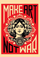 Wholesale making posters for sale - Group buy MAKE ART NOT WAR Art Silk Poster x30 x36 x43