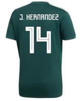 camisetas de fútbol v al por mayor-Personalizada de México personalizada 19-20 para hombre camisetas de fútbol, calidad tailandesa personalizada 14 J.Hernandez 10 G.DOS SANTOS 11 CARLOS V 16 H.HERRERA desgaste