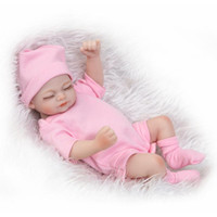 Wholesale full body silicone toy resale online - Simulation Full Body Silicone Reborn Baby Dolls Mini Lovely Gift Lifelike Handmade Artificial Doll Soft Safety And Innocuity tz WW