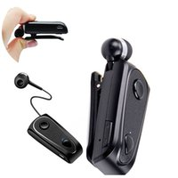 Wholesale bluetooth headset earphone clips for sale - Group buy Newest F900 Bluetooth Earphone Wireless Headphones With Clip Stereo Sport Retractable Headset With Mic Handsfree For Driving