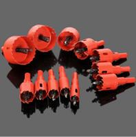 bohrer für löcher großhandel-16mm-50mm Bohrer Lochsäge Spiralbohrer Cutter Elektrowerkzeug Metall Löcher Bohren Kit Zimmerei Werkzeuge für Holz Stahl Eisen