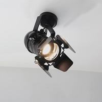 klasik amerikan tarzı aydınlatma toptan satış-LED Duvar Lambası Amerikan Retro Ülke Loft Tarzı lambaları Endüstriyel Vintage Demir duvar ışık için Bar Cafe Ev Aydınlatma.