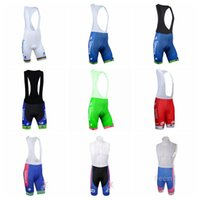 Wholesale lampre cycling - LAMPRE team Cycling bib Shorts pants Multiple choices Quick Dry Breathable Cycling Clothing GEL PAD short bib pants 841711