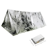 Wholesale tent person layer - PET Film Tent Single Layer Keep Warm Wind Proof Emergency Shelter Easy To Carry Camping Tents Practical 5 88gt B