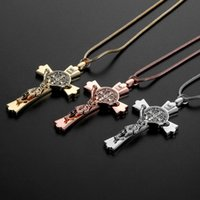 Wholesale crosses jesus resale online - Car Pendant Zinc Alloy Jesus Cross Christian Religion Jesus Crucifix Figurine Hanging Ornament For Auto Interior Rearview Mirror