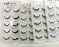 Wholesale Big False Eye Lashes - Red Cherry False eyelashes 5 pairs pack 8 Styles Natural Long Professional makeup Big eyes High Quality