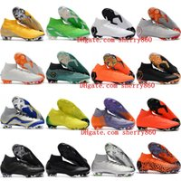 Wholesale cheap mens soccer cleats - 2018 mens soccer cleats Mercurial Superfly KJ VI Elite Cristiano Ronaldo Neymar FG soccer shoes cr7 football boots scarpe calcio Cheap Ora