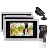 домашний фотоаппарат комплект оптовых-Homefong Door Video Camera Video Doorbell System with Camera 3.7MM Lens Security 1200TVL 3V1V1 Home Apartment Entry Kit