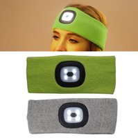 Wholesale flashing light hats for sale - Rechargeable LED Flashing Headband Wrap Knitted Light For Outdoor Hunting Headlight Fishing Headband Party Favor CCA10321
