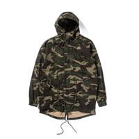 mejores chaquetas del ejército al por mayor-2019 TOP Mejor versión kanye west OVERSIZE Camuflaje ejército verde Hombres chaqueta Pullover Hip Hip Moda Casual Abrigo rompevientos S-XL