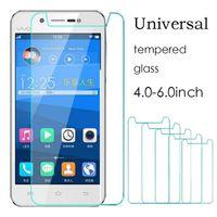 Wholesale universal mirrors - Universal Tempered Glass 4.0 4.3 4.5 4.7 5.0 5.3 5.5 6 inch Screen Protector film For Moto M Xiaomi redmi 4x ZTE Letv Huawei