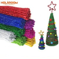 Wholesale ribbon toys children for sale - Group buy 50Pcs Plush Twisted Bar Multicolor DIY Christmas Tree Ornament Children Kids Toy Xmas Home Party wedding Decorations cm Length Y18102609