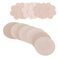 Wholesale bra wedding dress - Women's New Nipple Covers Pads Patches Self Adhesive Wedding Party Dress Disposable Comfort Breast Petals Chest Paste Bra Cove
