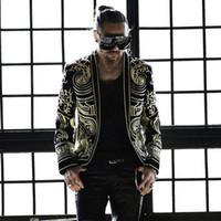 Outfit Plus Dünne Jacke Stickerei Männer Sänger 2018 Koreanische Mantel Version Komplizierten Bar Size Schwarzen Nachtclub Host E2DW9HIY