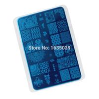 nagelstanzplatten serie großhandel-Neue Designs Nail Art Stempel Bild Platte dia 14,5 * 10,5 cm SP serie Stamping nagel Vorlage Schönheit TOOLS