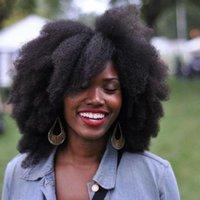 doğal renk insan saçı örgüleri toptan satış-Slove 10A Afro Kinky Kıvırcık Saç Uzatma Örgü İnsan Saç Demetleri 1 adet Doğal Renk Remy Saç