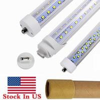 Wholesale Cool Foot - 8ft Single Pin FA8 led t8 tube lights V Shaped R17D 8 Feet LED Fluorescent Tubes Light AC 85-265V + Stock In US