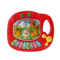 Wholesale developmental toys for children resale online - New Baby Kids Musical Piano Animal Farm Developmental Educational Toy Musical Instrument for Children Gift Random Color