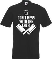 gracejo camiseta venda por atacado-NÃO SUJE COM O COZINHEIRO CHEFE! Engraçado Cozinheiro Chef T-Shirt Comida Presente Joke Cooking Mens jaqueta croácia couro