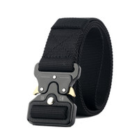 Wholesale Nylon Training - Best YBT Unisex Nylon belt Metal insert buckle military nylon Training belt Army tactical belts for Men Best quality male strap