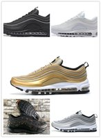 Wholesale free country - 2018 New 97 QS Country Camo sneaker Tripel White Metallic Gold Silver Bullet WHITE Premium Running Shoes Men Women Free shipping