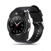 ingrosso vigilanza del tocco della donna-V8 Sport rotonda Bluetooth Smart Watch uomini donne Smartwatch fotocamera IPS Touch HD schermo supporto SIM TF Card per Android IOS