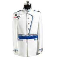 ingrosso corti cinesi scarni-Costumi maschili da indossare in stile europeo per gli studenti Studio ospita l'incontro annuale dei costumi da principe bianco vestito dell'esercito europeo