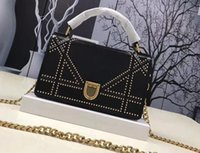 Wholesale Handle Covers - AAA Women M5000 Shoudler Bag in Studded Lambskin,one Handle Cannage Design,Metal Chain Strap,with Box Dust Bag Free Shipping