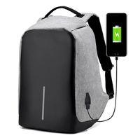 sac à bandoulière portable pour ordinateur portable achat en gros de-Sac à dos de chargement USB Sac à bandoulière anti-vol Sacs à dos pour ordinateur portable Sac de voyage d'affaires Étanches Sacs d'école