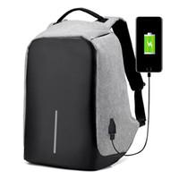 Wholesale laptop bags for sale - USB Charging Backpack Anti theft Shoulder Bag Laptop Backpacks Business Travel Bag Waterproof School Bags