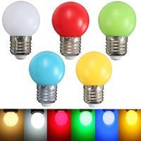 Wholesale Colorful Nature - Colorful LED Light Bulb E27 Energy Saving Light Globe Golf Ball Lamp 1W 2W 3W Home Decor Lighting AC220V