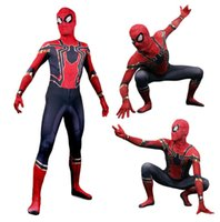 Wholesale zentai hero cosplay for sale - Halloween cosplay Spiderman Hero Zentai adult costume Anime Cosplay clothes set Festival party supplier super heroes fancy dress